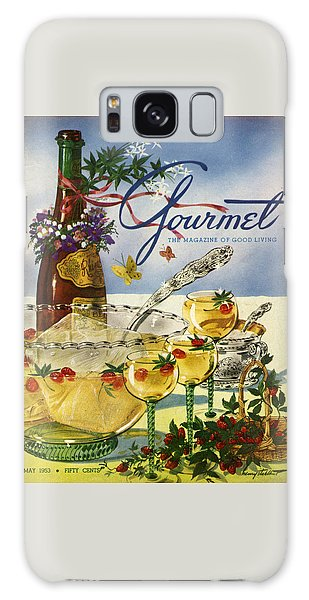 Gourmet Cover Featuring A Bowl And Glasses Galaxy Case