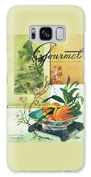 Gourmet Cover Featuring A Bowl Of Peaches Galaxy S8 Case