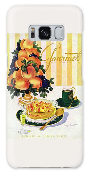 Gourmet Cover Featuring A Centerpiece Of Peaches Galaxy Case