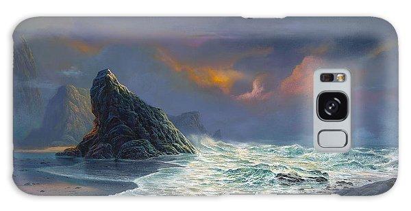 Beach Sunset Galaxy Case - Grace Under Fire by Michael Humphries