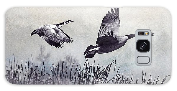 Goose Galaxy Case - Graceful Geese by Laura D Young