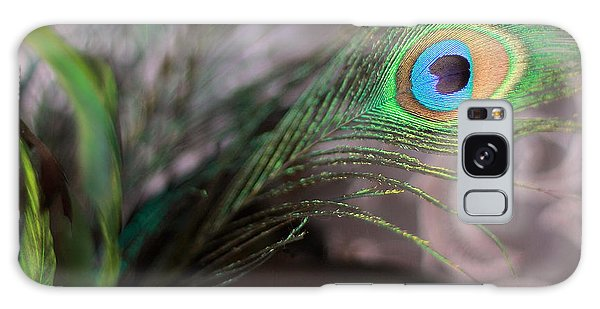 Graceful Peacock Feather Galaxy Case