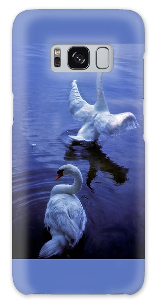 Graceful Swans Galaxy Case by Marie Hicks