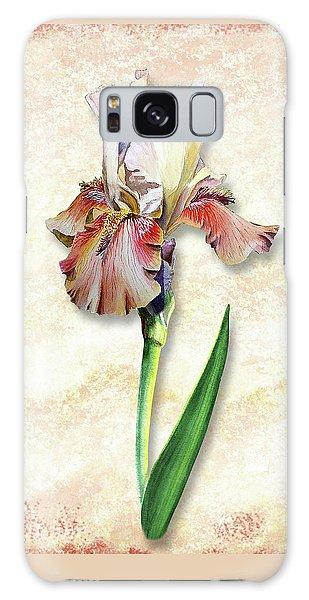 Galaxy Case featuring the painting Graceful Watercolor Iris by Irina Sztukowski