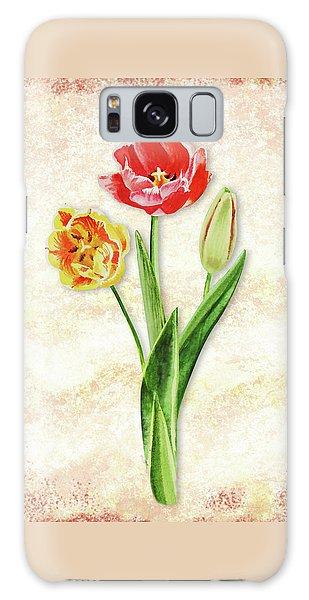 Galaxy Case featuring the painting Graceful Watercolor Tulips by Irina Sztukowski