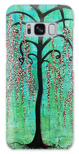 Galaxy Case featuring the mixed media Graceful Willow Print by Natalie Briney