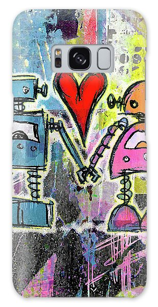 Graffiti Pop Robot Love Galaxy Case