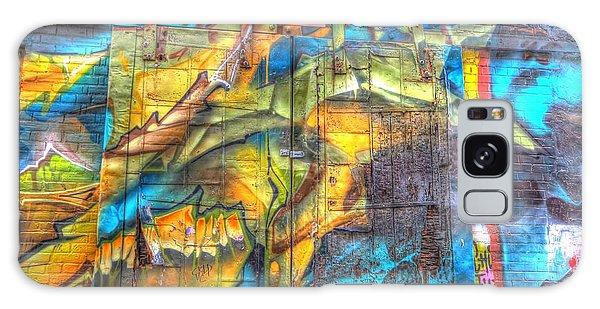 Galaxy Case featuring the photograph Grafiti Window by Michaela Preston
