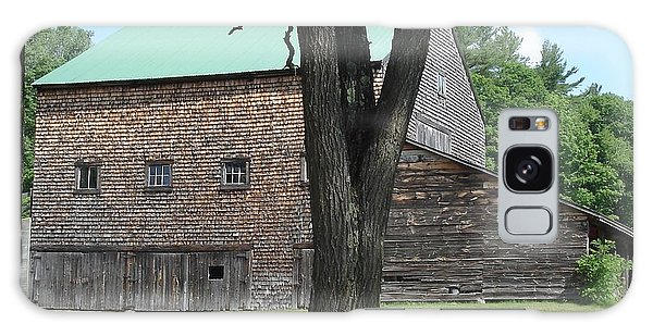 Grammie's Barn Through The Trees Galaxy Case by Kerri Mortenson