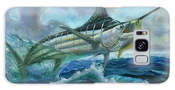 Grand Blue Marlin Jumping Eating Mahi Mahi Galaxy Case