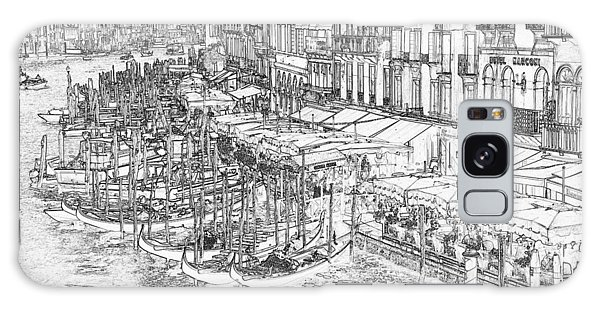 Galaxy Case - Grand Canal Pen And Ink 4261 by Bob Neiman