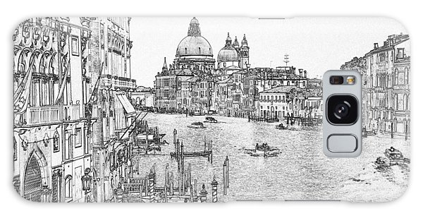 Galaxy Case - Grand Canal Pen And Ink 4443 by Bob Neiman