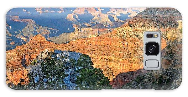 Grand Canyon South Rim At Sunset Galaxy Case