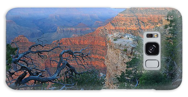 Grand Canyon South Rim - Red Hues At Sunset Galaxy Case