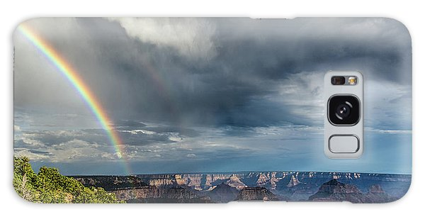 Grand Canyon Stormy Double Rainbow Galaxy Case