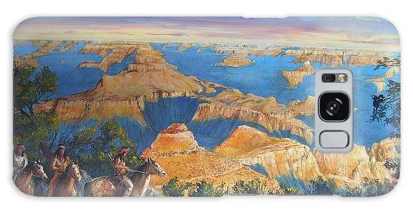 Grand Canyon Visitors At Sunrise Galaxy Case