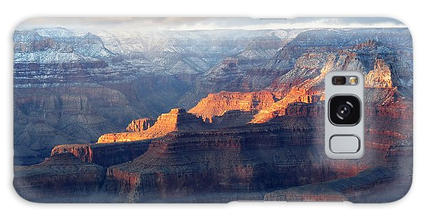 Grand Canyon With Snow Galaxy Case by Laurel Powell