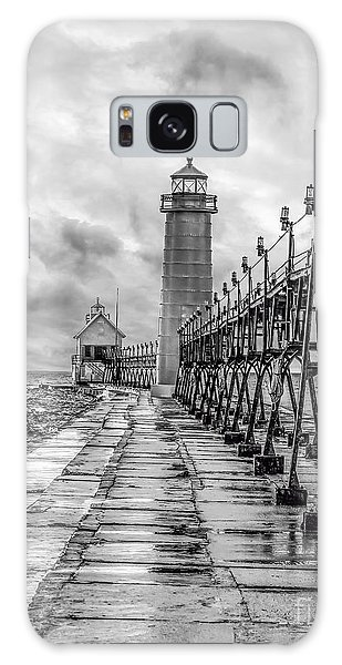 Grand Haven Lighthouse - Monochome Galaxy Case