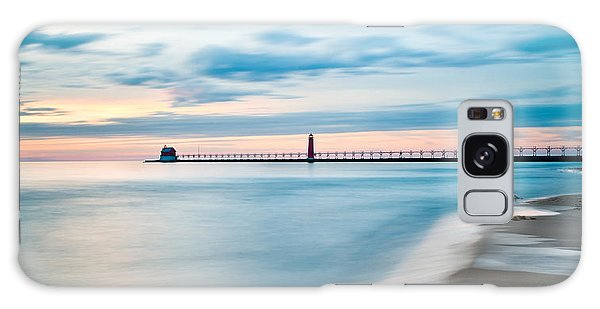 Grand Haven Pier - Smooth Waters Galaxy Case