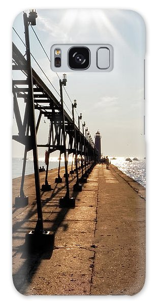 Galaxy Case featuring the photograph Grand Haven Pier by Lars Lentz