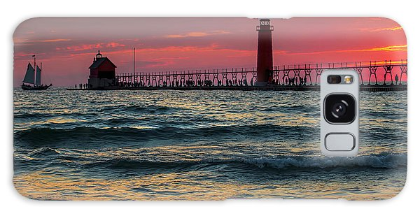 Grand Haven Pier Sail Galaxy Case