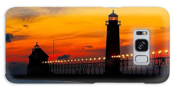 Grand Haven Sunset Galaxy Case