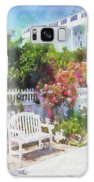 Grand Hotel Gardens Mackinac Island Michigan Galaxy Case