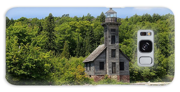 Grand Island Lighthouse 4 Galaxy Case by Mary Bedy