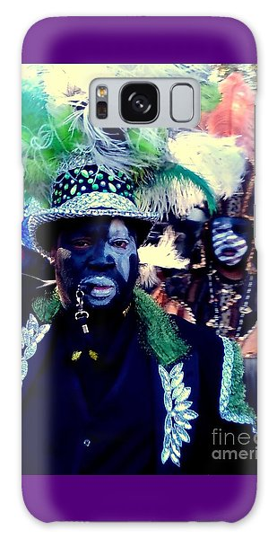 Grand Marshall Of The Zulu Parade Mardi Gras 2016 In New Orleans Galaxy Case by Michael Hoard