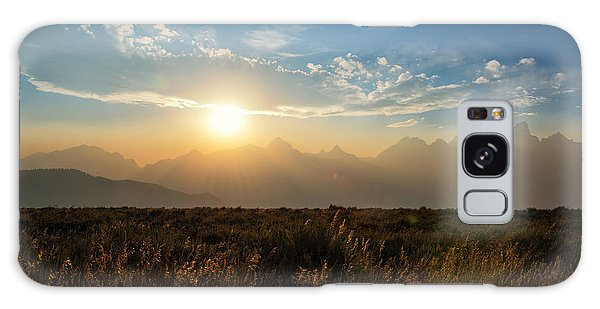 Teton Range Galaxy Case - Grand Teton Hazy Sunset  by Michael Ver Sprill