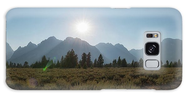 Teton Range Galaxy Case - Grand Teton National Park Sun Burst by Michael Ver Sprill