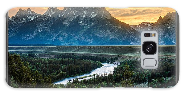 Grand Teton National Park Sunset Poster Galaxy Case by Gary Whitton