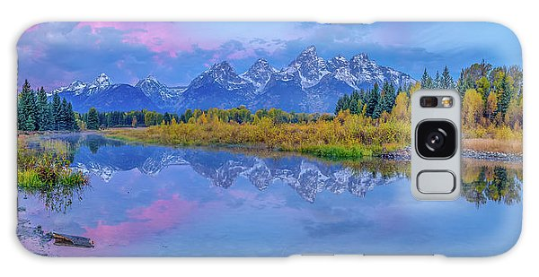 Grand Teton Sunrise Panoramic Galaxy Case