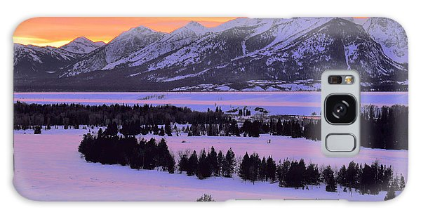 Grand Teton Winter Sunset Galaxy Case