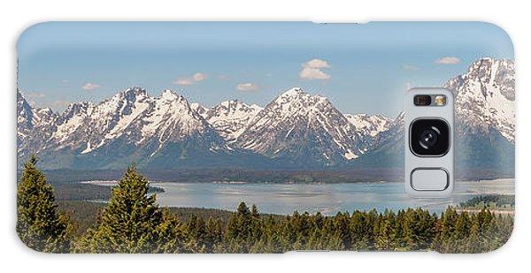 Teton Range Galaxy Case - Grand Tetons Over Jackson Lake Panorama by Brian Harig