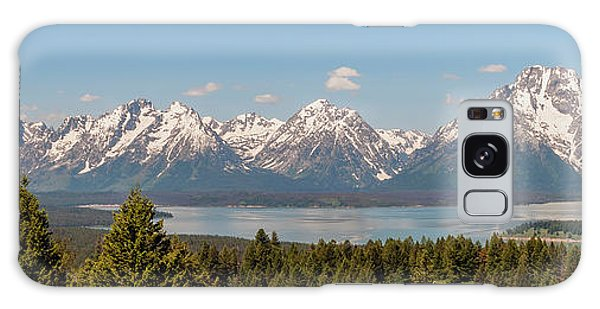 Grand Tetons Over Jackson Lake Panorama Galaxy Case