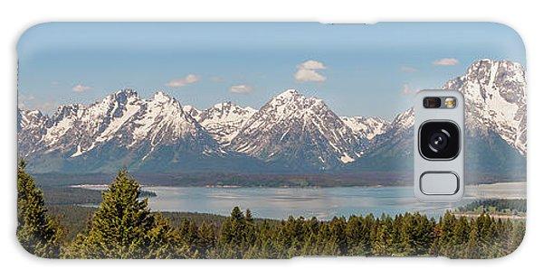 Grand Tetons Over Jackson Lake Panorama Galaxy Case by Brian Harig