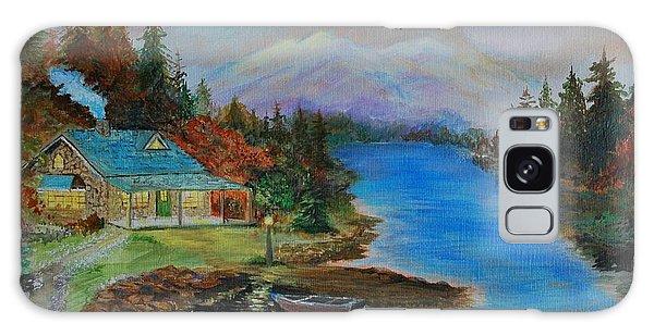 Grandmas Cabin Galaxy Case by Leslie Allen