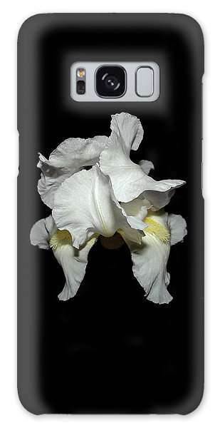Grandma's White Iris Galaxy Case