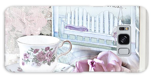 Grandmother...tell Me Your Memories Galaxy Case by Sherry Hallemeier