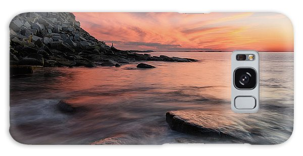 Galaxy Case featuring the photograph Granite Sunset Rockport Ma. by Michael Hubley