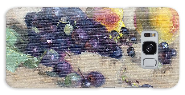 Peach Galaxy Case - Grape And Peach by Ylli Haruni
