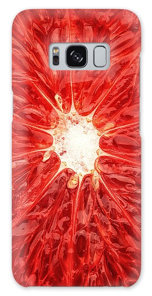 Grapefruit Close-up Galaxy Case by Johan Swanepoel