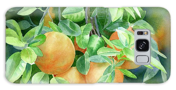 Grapefruit With Background Galaxy Case by Sharon Freeman