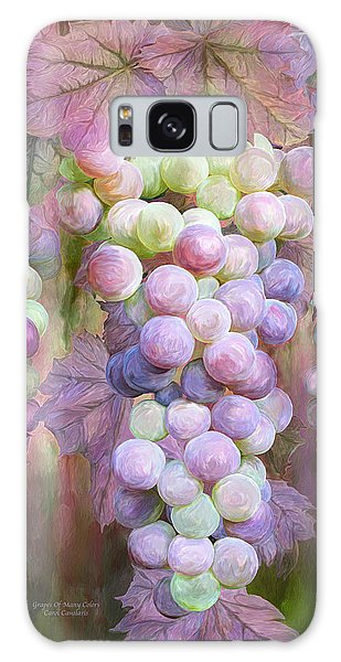 Galaxy Case featuring the mixed media Grapes Of Many Colors by Carol Cavalaris