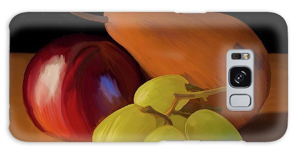 Grapes Plum And Pear 01 Galaxy Case by Wally Hampton