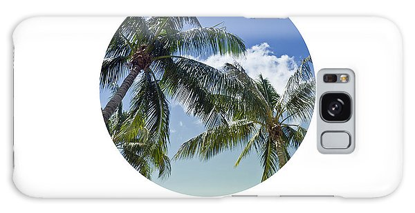 Breathe Galaxy Case - Graphic Art Breathe - Palm Trees by Melanie Viola