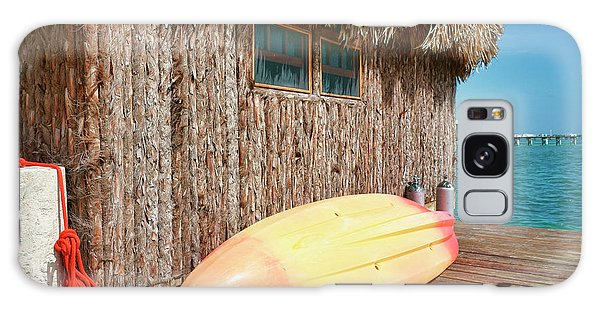 Grass Hut On Ambergris Caye Belize Galaxy Case