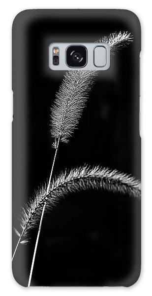 Grass In Black And White Galaxy Case