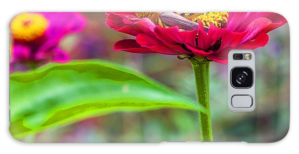 Grasshopper And Flower Galaxy Case by Edward Peterson